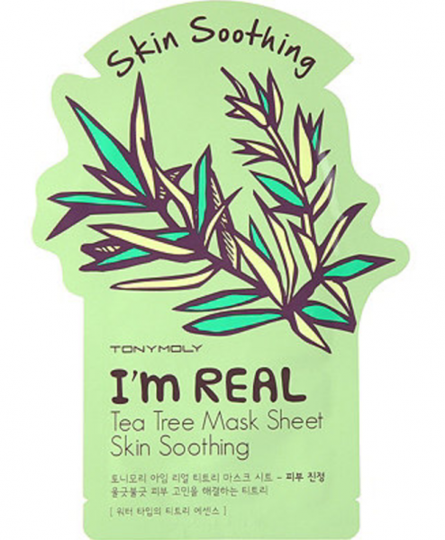 Tony Moly I'm Real - Tea Tree Mask Sheet - Teebaum Gesichtsmaske - koreanische Tuchmaske - 21g