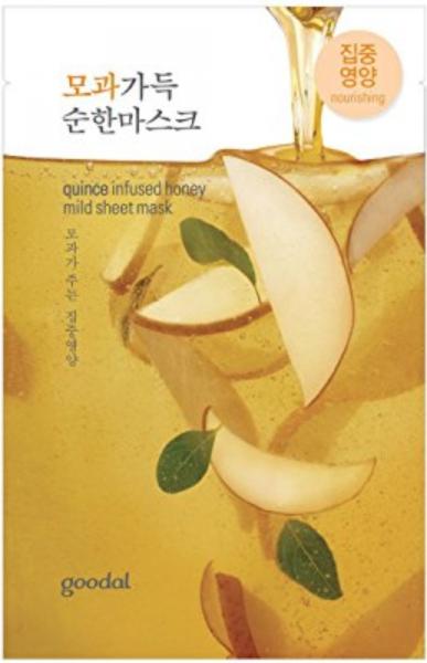 goodal quince infused honey mild sheet mask - Quitte Gesichtsmaske - Honig Sheet Maske