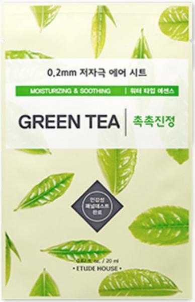 Etude House Therapy Air Mask - Green Tea - Grüner Tee Gesichtsmaske - koreanische Tuchmaske - 20ml