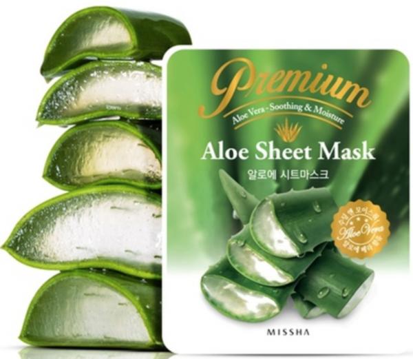 Missha Premium Aloe Sheet Mask - Aloe Vera Gesichtsmaske - koreanische Tuchmaske