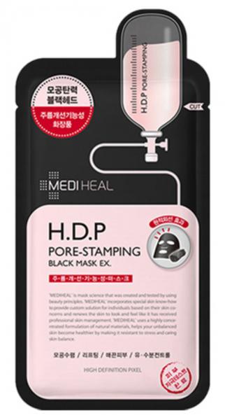 MEDIHEAL H.D.P Pore-Stamping Black Mask EX. - koreanische Tuchmaske