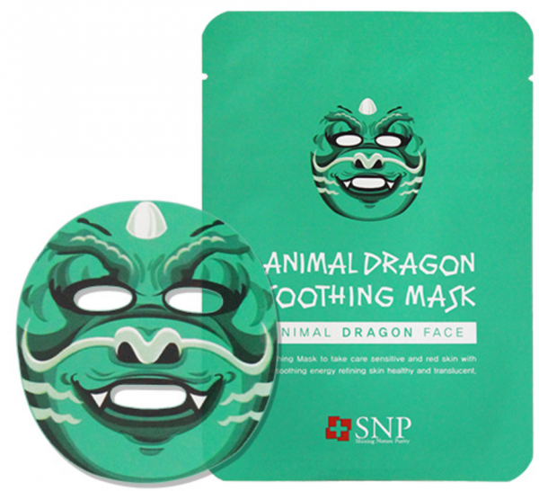 SNP - Animal Dragon Soothing Mask - Drache Gesichtsmaske - koreanische Tuchmaske - 25ml