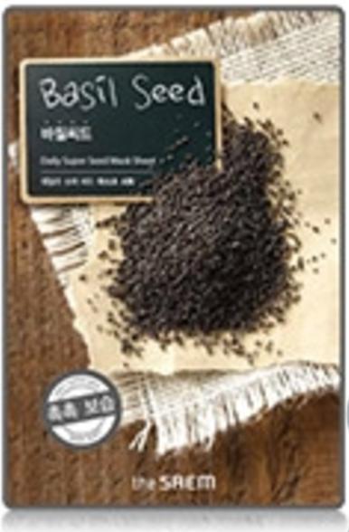 the SAEM Daily super seed - Basil Seed Mask Sheet - Basilikum Samen Gesichtsmaske - koreanische Tuch
