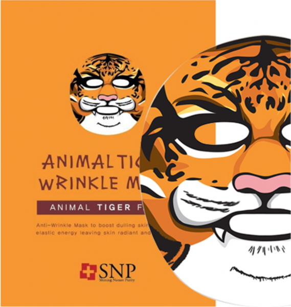 SNP Animal Tiger Wrinkle Mask - Anti Falten Gesichtsmaske - koreanische Tuchmaske - 25ml