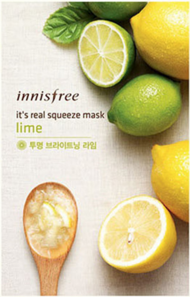 innisfree It's Real Squeeze Mask - Lime - koreanische Tuchmaske - 20ml