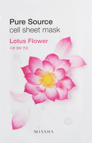 Missha Pure Source Cell Sheet Mask - Lotus Flower - koreanische Tuchmaske - 21g