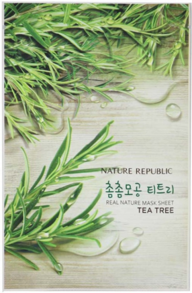 Nature Republic Tea Tree Real Nature Mask Sheet - Teebaum Maske - koreanische Tuchmaske - 23ml