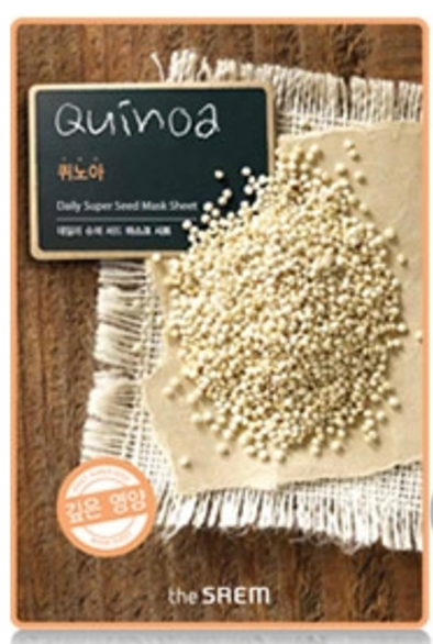 the SAEM Daily super seed - Quinoa Mask Sheet - koreanische Tuchmaske - 21gthe SAEM Daily super seed