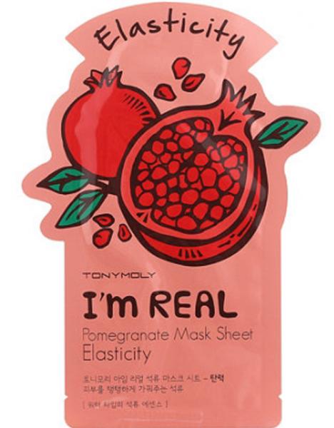 Tony Moly I'm Real - Pomegranate Mask Sheet - Granatapfel Maske - koreanische Tuchmaske - 21g