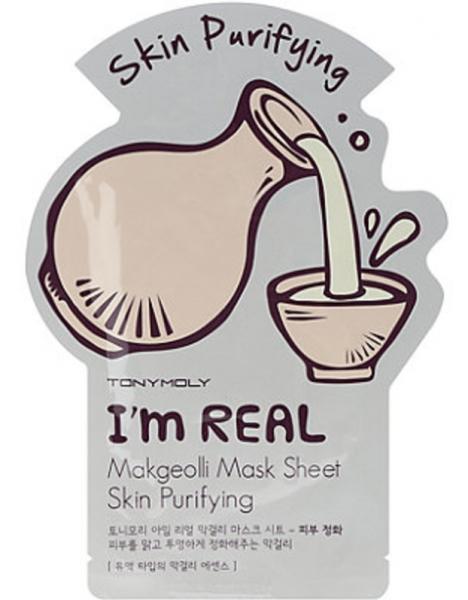 Tony Moly I'm Real Makgeolli Mask Sheet - koreanische Tuchmaske - 21g