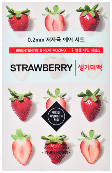 Etude House Therapy Air Mask - Strawberry - Erdbeere Gesichtsmaske - koreanische Tuchmaske - 20ml