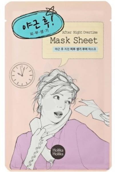 Holika holika After Mask Sheet - Night Overtime - koreanische Tuchmaske