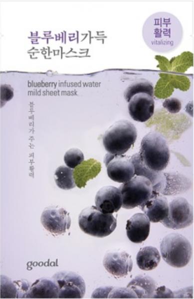 goodal blueberry infused water mild sheet mask - Heidelbeer Gesichtsmaske - koreanische Tuchmaske