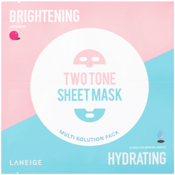 LANEIGE Two Tone Sheet Mask - Brightening and Hydrating - 2 koreanische Tuchmaske