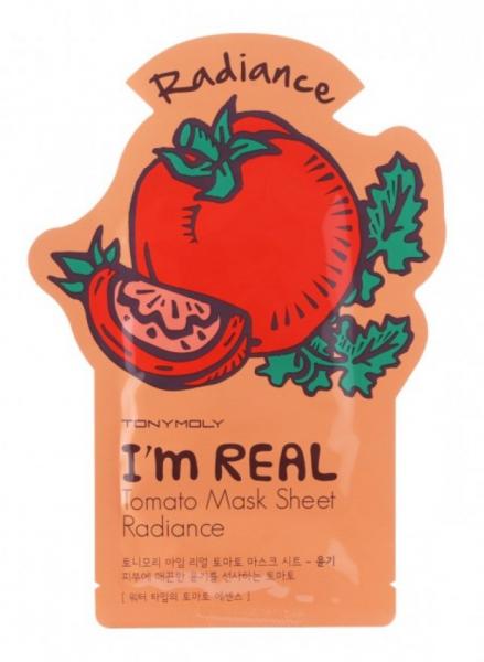 Tony Moly I'm Real - Tomato Mask Sheet - Tomate Gesichtsmaske - koreanische Tuchmaske - 21g