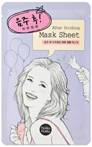 Holika Holika After Mask Sheet - After Drinking - koreanische Tuchmaske