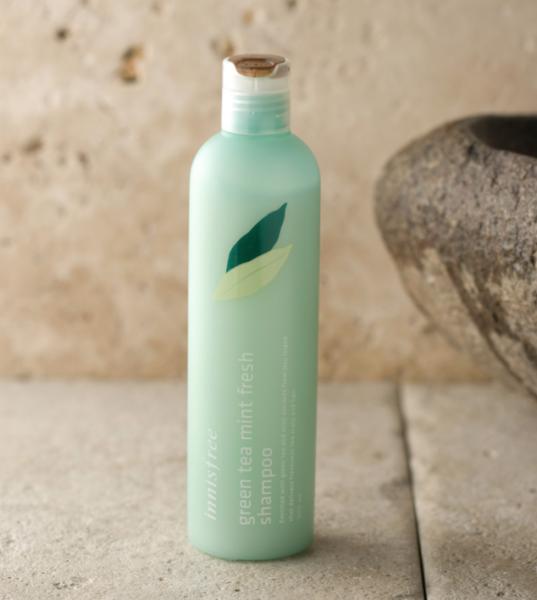 innisfree green tea mint fresh shampoo - silikonfreies Shampoo - koreanische Kosmetik