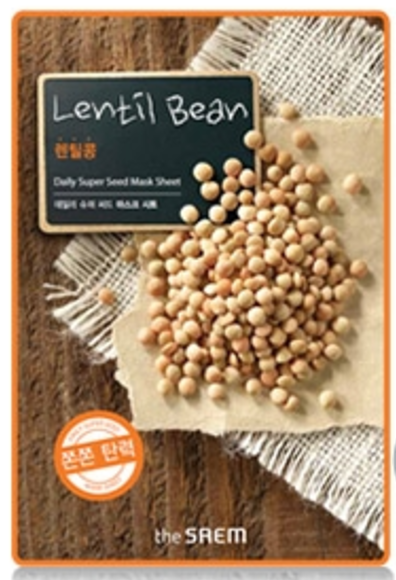the SAEM Daily Super Seed - Lentil Bean Mask Sheet - Linsen Maske - koreanische Tuchmaske - 21g