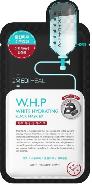 MEDIHEAL W.H.P White Hydrating Black Mask EX. - koreanische Tuchmaske - 25ml