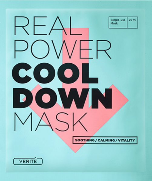 Verite Real Power Cool Down Mask - koreanische Tuchmaske - 25ml