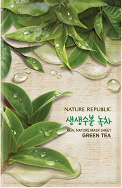 Nature Republic Green Tea Real Nature Mask Sheet - Grüner Tee Maske - koreanische Tuchmaske - 23ml