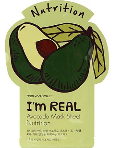 Tony Moly I'm Real - Avocado Sheet Mask - koreanische Tuchmaske - 21g