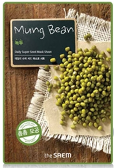 the SAEM Daily Super Seed - Mung Bean Mask Sheet - koreanische Tuchmaske - 21g